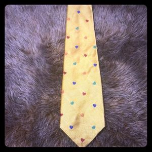 Robert Talbott Men's Yellow Multi-Color Tie